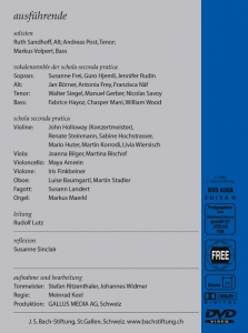 J.S. Bach-Stiftung Allein zu dir, Herr Jesu Christ